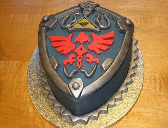 Legend of Zelda Hylian Shield Cake