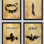 Lord of the Rings Four Poster Set Including The Hobbit