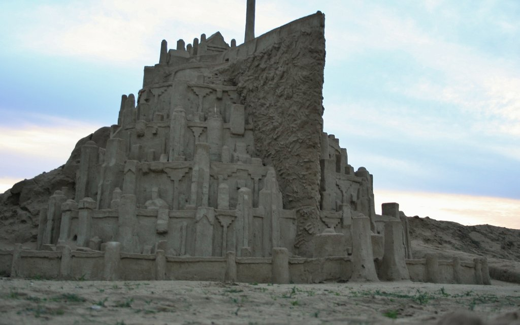 Lord of the Rings Minas Tirith Sand Sculpture