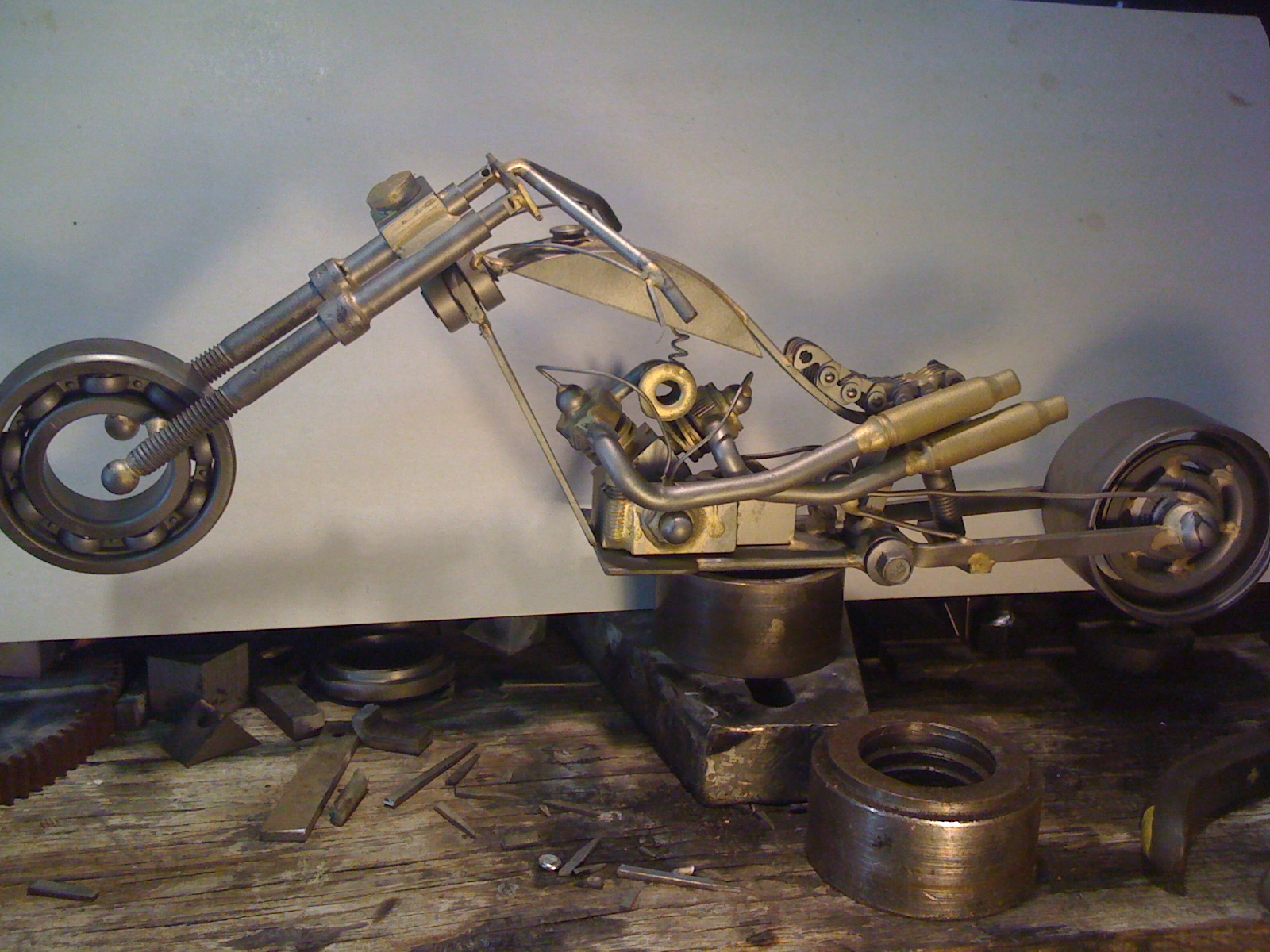 Steampunk Motorcycle Sculpture