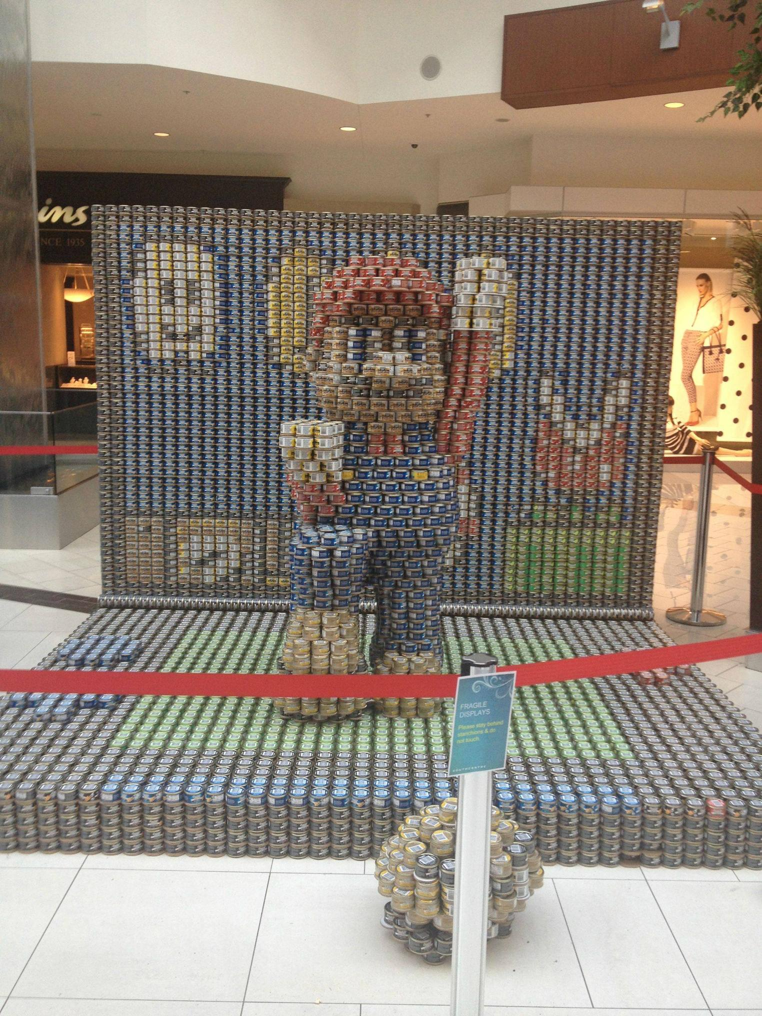 Super Mario Canned Food Display
