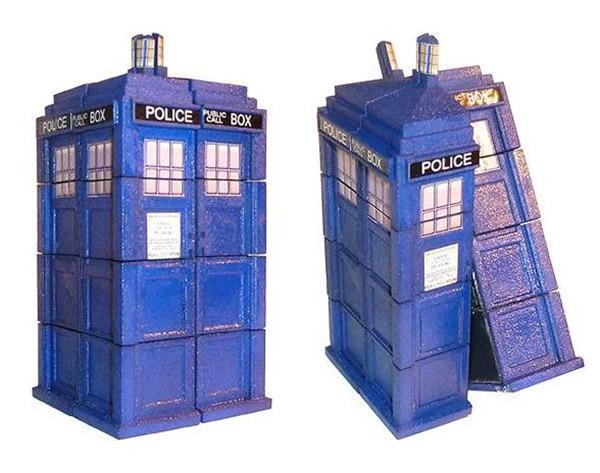 3D Printed TARDIS Rubik's Cube