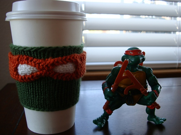 TMNT Coffee Cozy