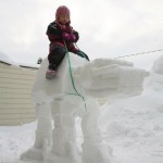 Little Kid Rides AT-AT Made Out of Snow [pic]