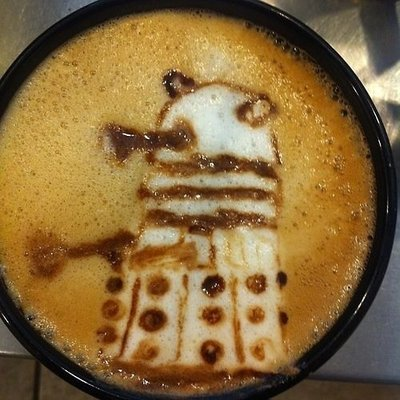Doctor Who Dalek Latte Art