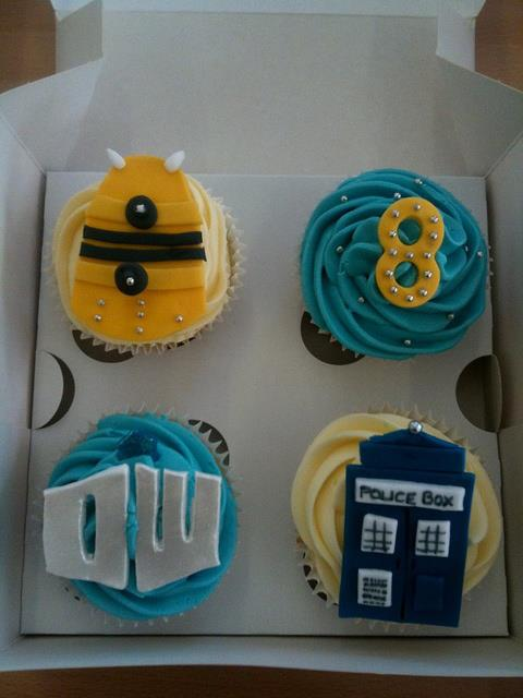 Doctor Who TARDIS and Dalek Cupcakes