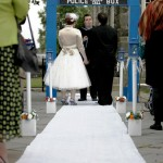 A TARDIS Wedding Arch for the Ultimate Whovian Couple [pic]