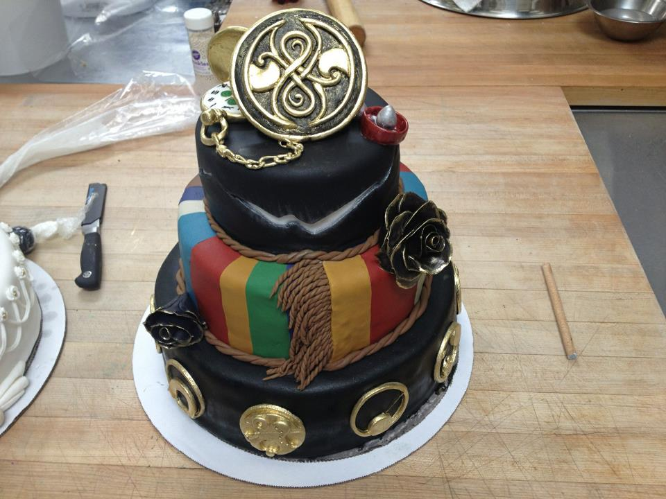 Gallifreyan Wedding Cake