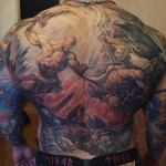 Mind Blowing God of War Full Back Tattoo [pic]