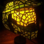 Amazing Halo Master Chief Stained Glass Helmet Lamp [pic]