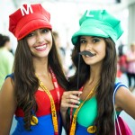Cute Girls Cosplaying as Mario and Luigi [pic]