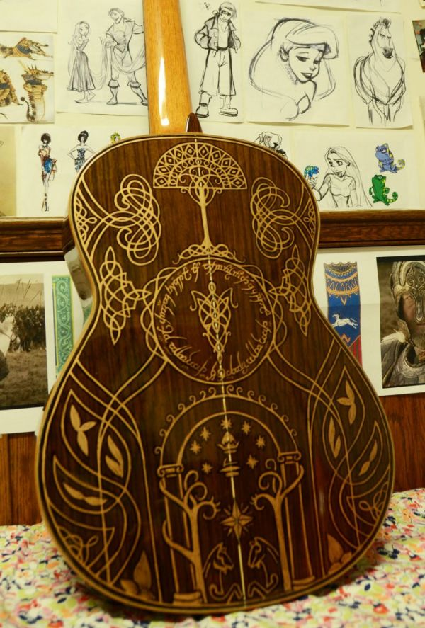Lord of the Rings Guitar Back