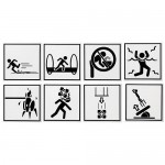Portal Warning Signs Coasters [pic]