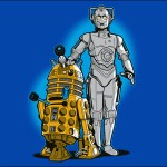 R2-D2 and C-3PO Meet Dalek and Cyberman T-Shirt [pic]