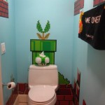 Super Mario Bros bathroom theme [pics]