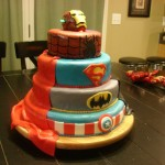 4-Tier Comic Book Superhero Birthday Cake [pic]
