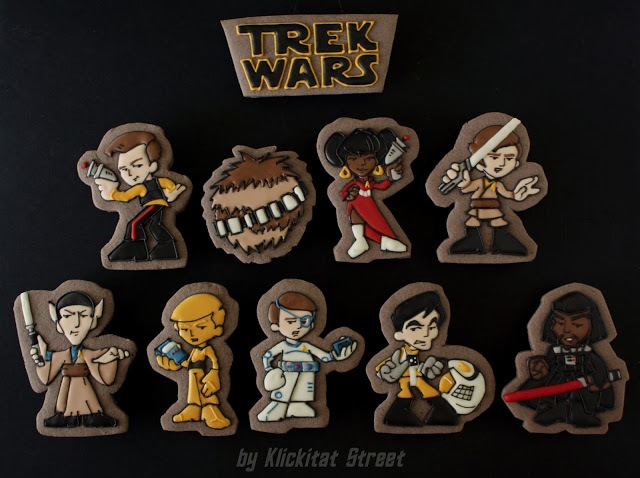 Star Trek and Star Wars Cookies
