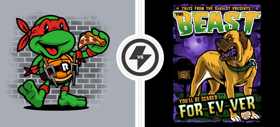 Vintage Raphael vs The Beast Shirts