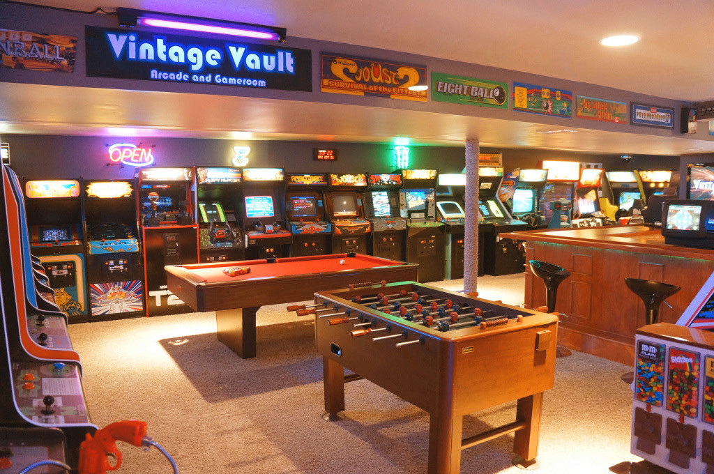 Vintage Vault Basement Arcade