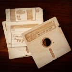 Wooden Floppy Disk Coasters [pic]