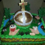 Hallelujah!  This Worms Holy Hand Grenade Cake is Awesome! [pic]