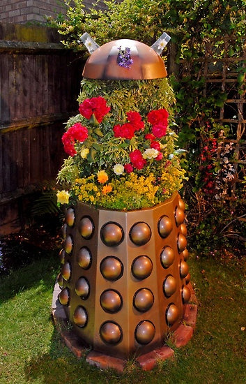 Dalek Flower Planter