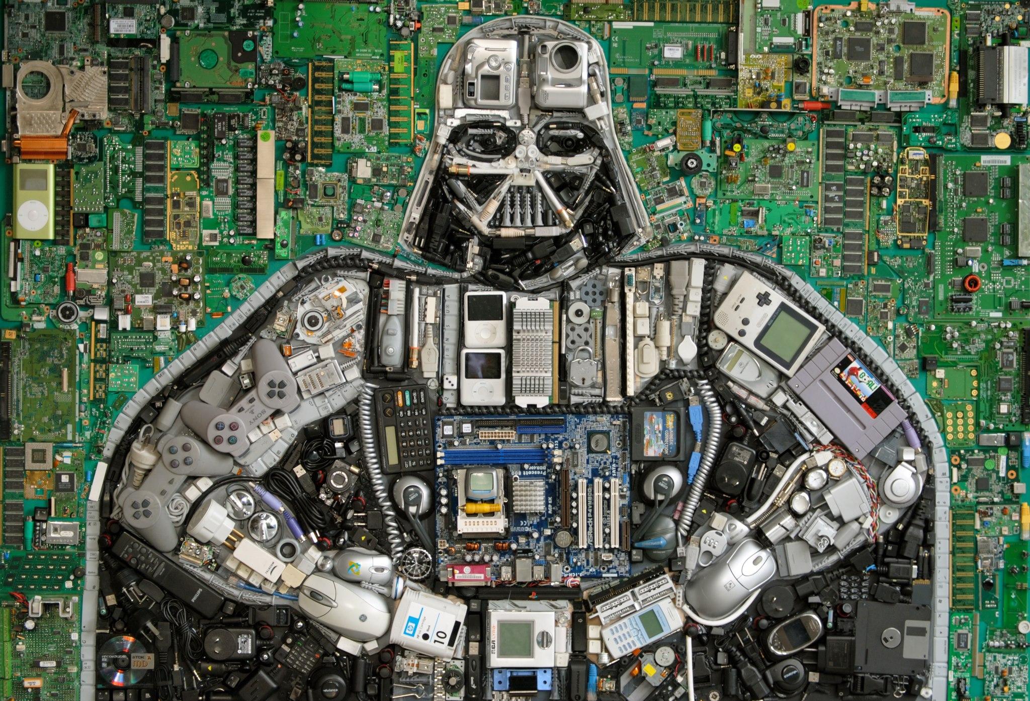 Darth Vader Mosaic