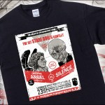 Weeping Angel vs The Silence Staring Contest T-Shirt