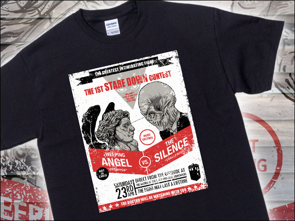 Weeping Angel vs Silence Staring Contest Shirt