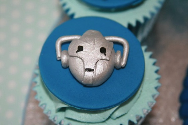 Doctor Who Cyberman Cupcake