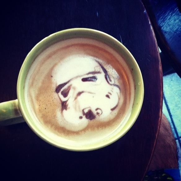 Stormtrooper Latte Art