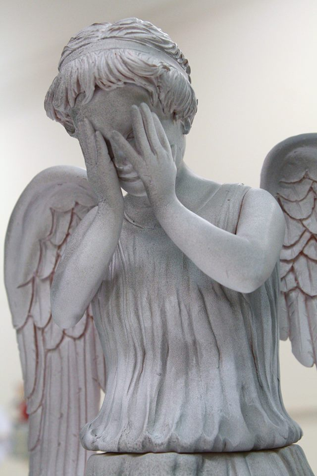 Weeping Angel Cake Close Up
