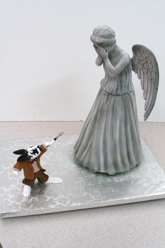 Doctor Who Weeping Angel Cake