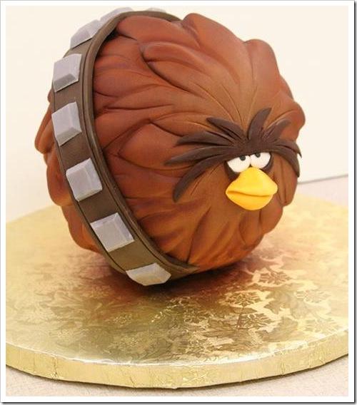 Angry Birds Star Wars Chewbacca Cake