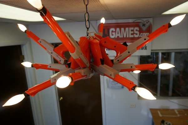 NES Zapper Chandelier