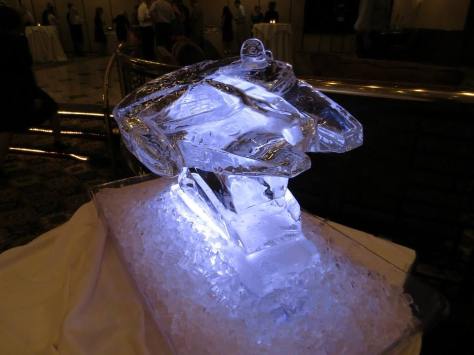 Millennium Falcon Ice Sculpture