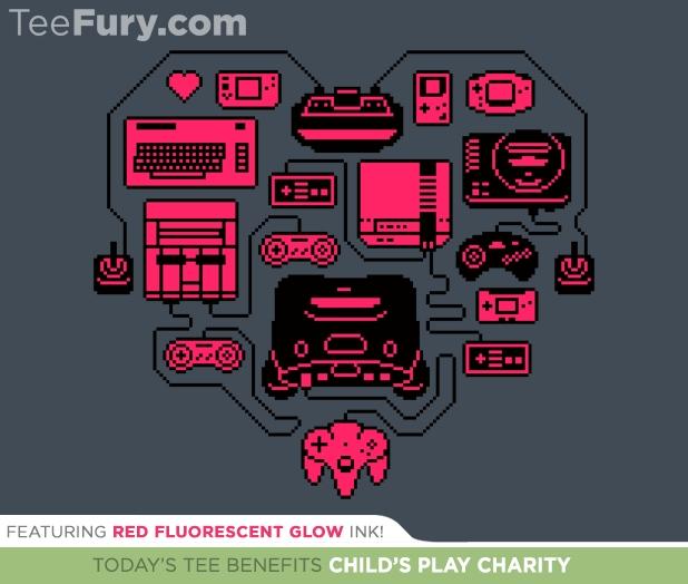 Retro Gamer Heart T-Shirt