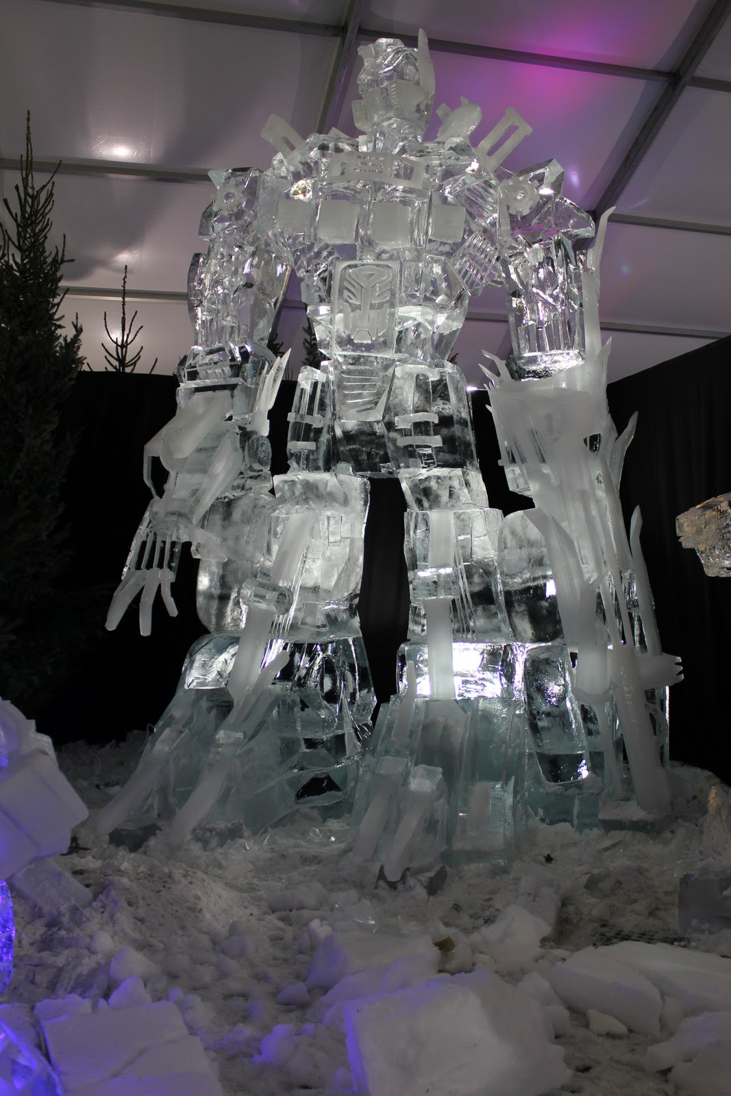 Transformers Ice Sculpture