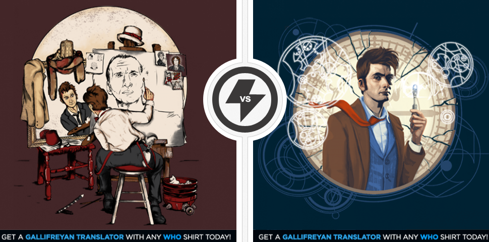Two Doctor Who Shirts