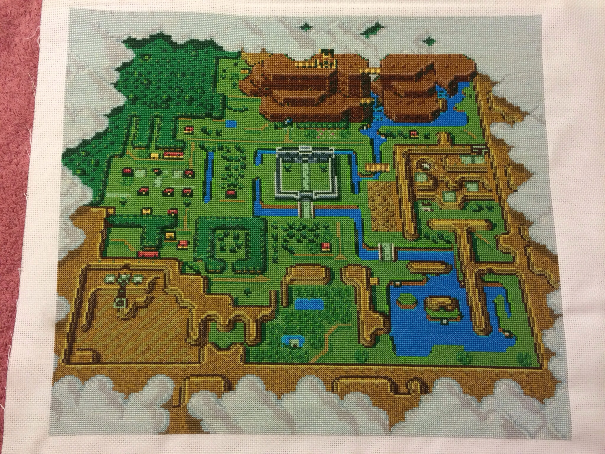 Legend of Zelda Map Cross-Stitch